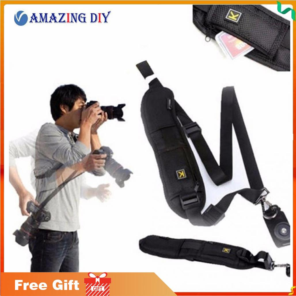 Professional Rapid Quick Release Camera Shoulder Sling Neck Wrist Strap for Canon Nikon Sony DSLR ILDC