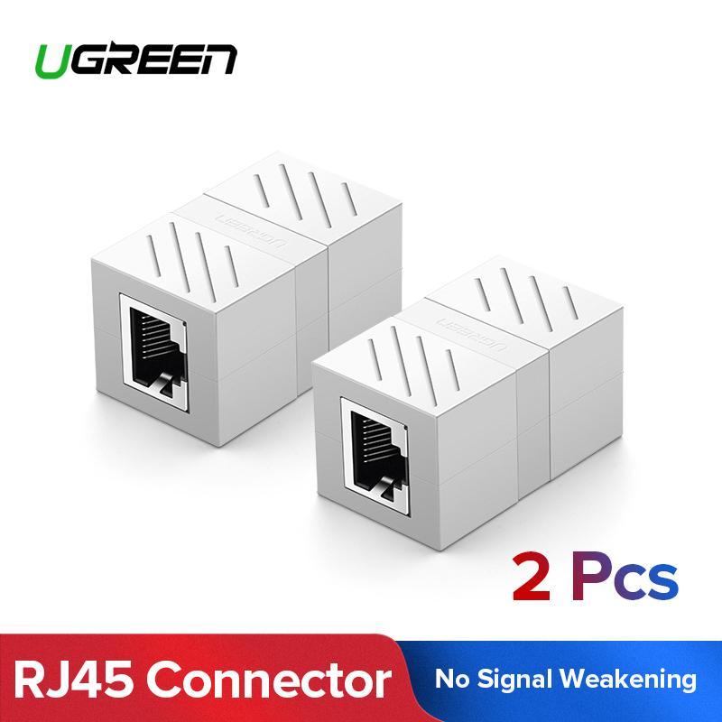 2X Cat 5e RJ-45 Female to Female Network LAN Coupler Extender Connector Adapter