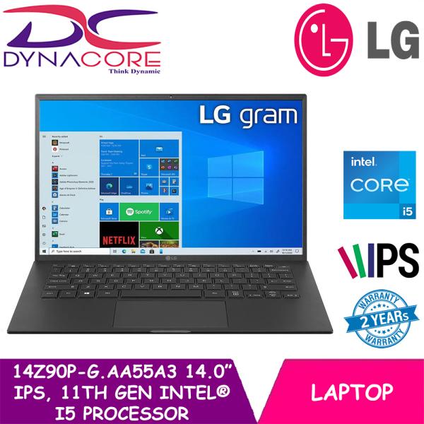 [READY STOCK] DYNACORE - LG gram 14.0 14Z90P-G.AA55A3 Laptop with 16:10 WUXGA IPS Display, 16GB RAM, 11th Gen Intel® Core™ (Certified Evo™ Platform) i5 Processor and Thunderbolt™ 4