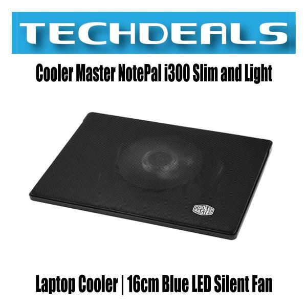 Cooler Master NotePal i300 Slim and Light Laptop Cooler | 16cm Blue LED Silent Fan