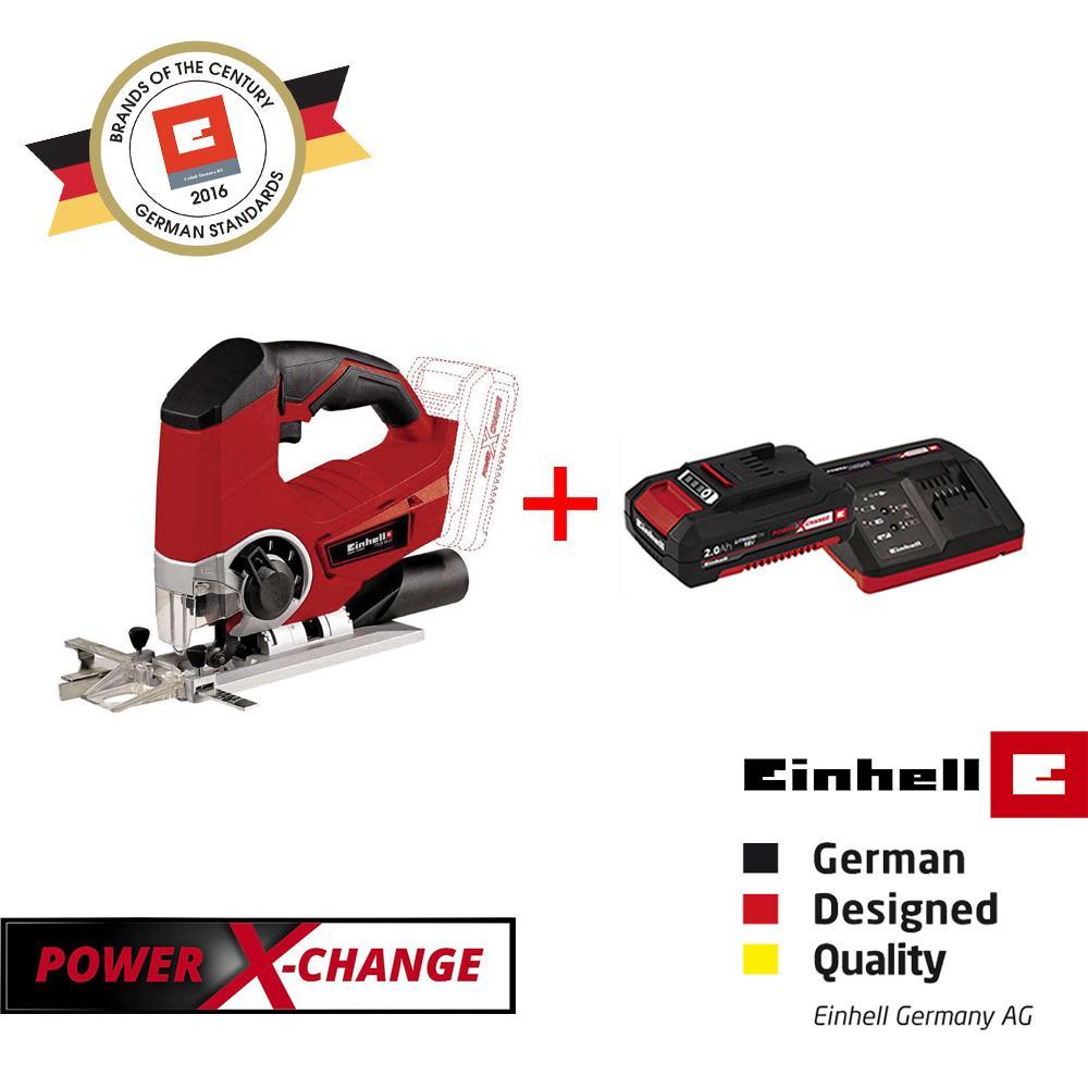 [BUNDLE SET] Einhell PXC Cordless Jig Saw [TE-JS 18 Li-Solo] + 2.0Ah Battery & Charger Set