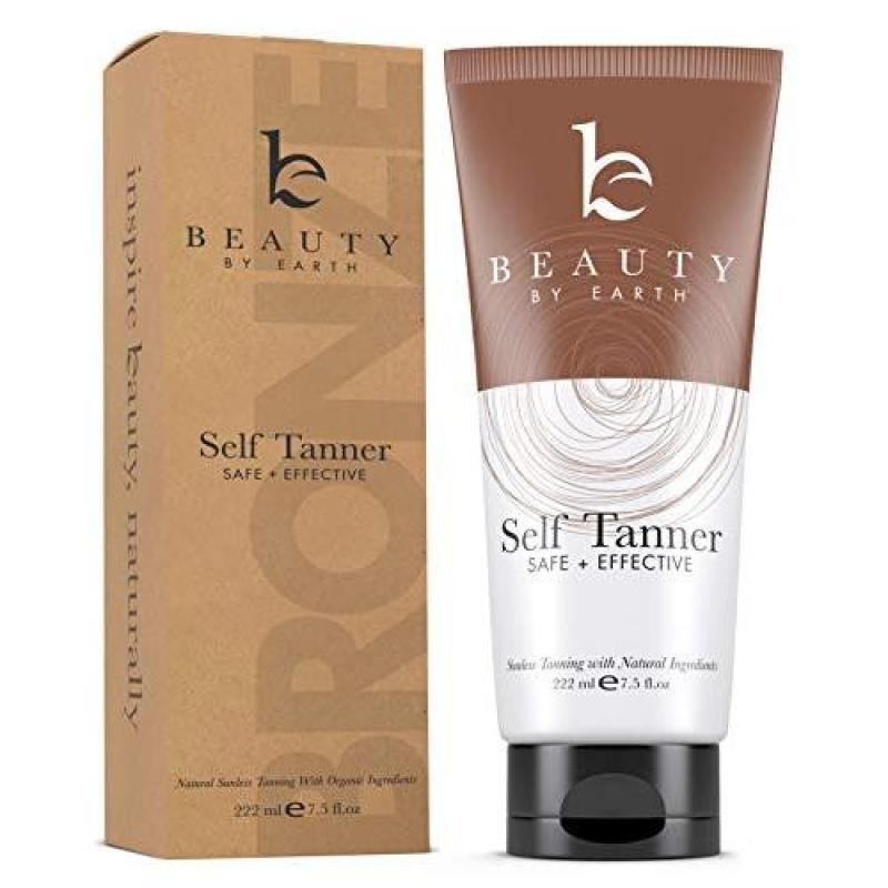 Buy Beauty by Earth Self Tanner with Organic & Natural Ingredients, Tanning Lotion, Sunless Tanning Lotion for Flawless Darker Bronzer Skin, Self Tanning Lotion - Self Tanners Best Sellers, Fake Tan Singapore