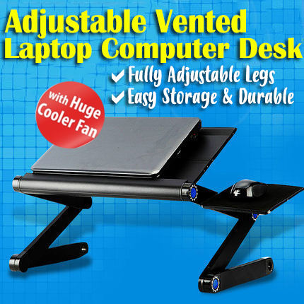 Multi Functional Adjustable Vented Foldable Table Laptop Stand / Tray for Sofa