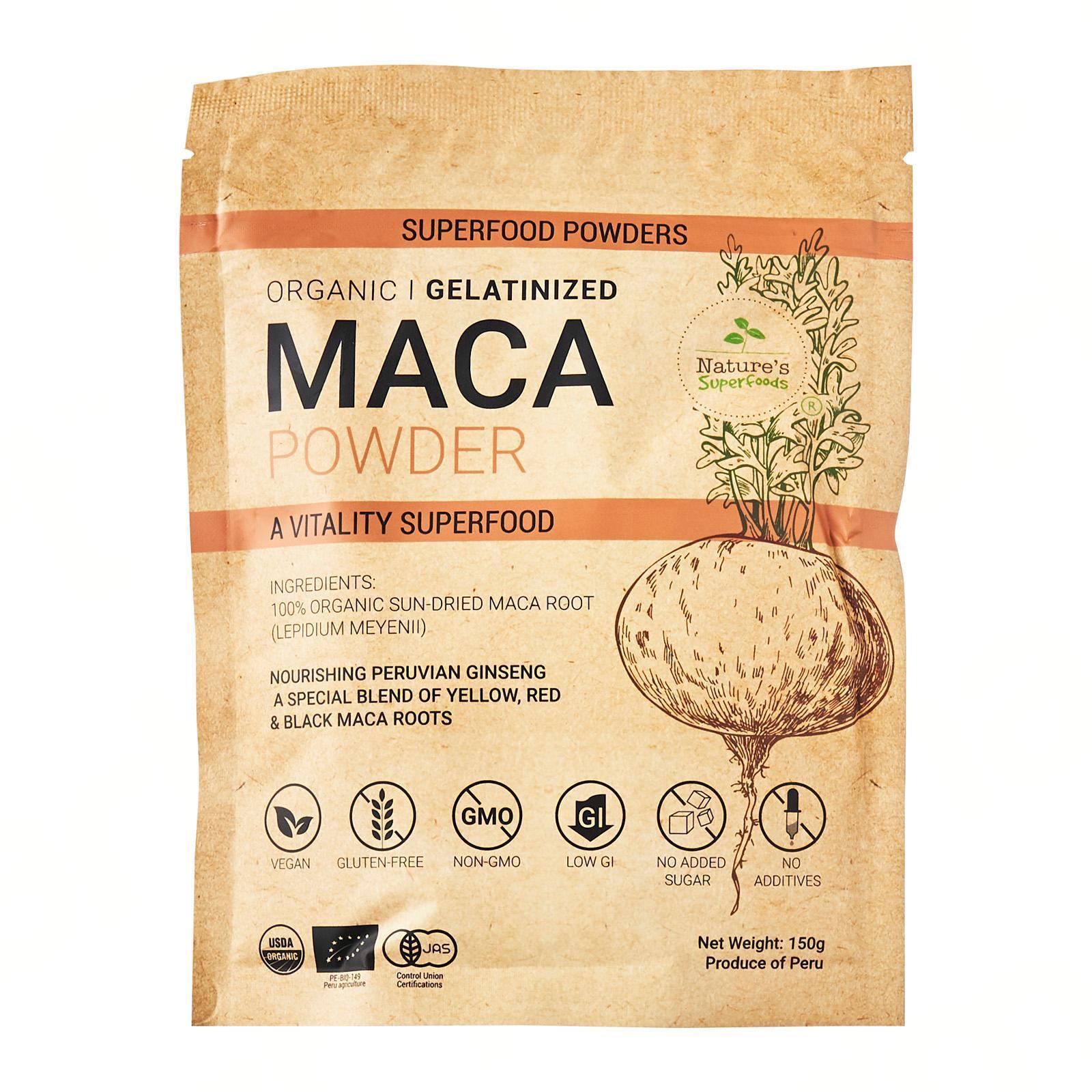 Nature's Superfooods Organic Gelatinized Maca Root Powder