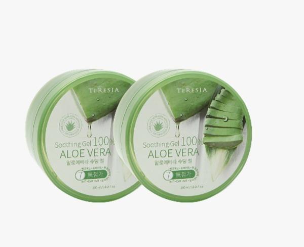 Buy TERESIA Soothing Gel 100% Aloe Vera 300ml x 2 packs Singapore