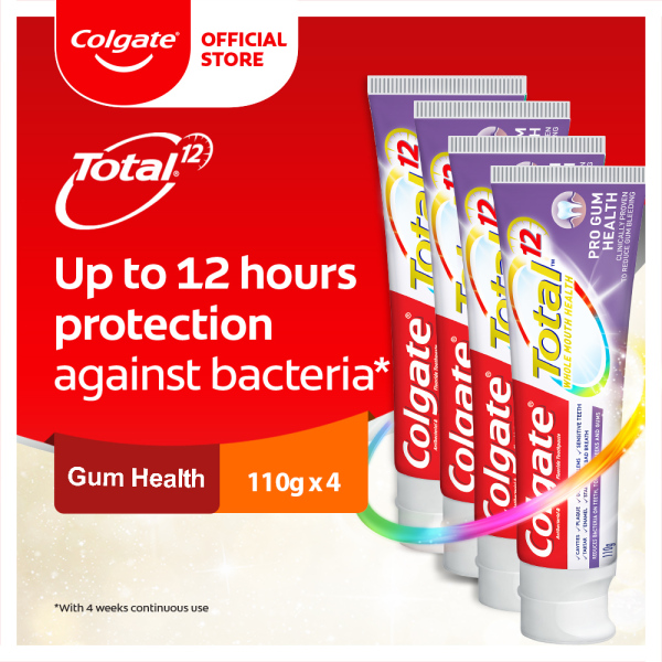 Buy Colgate Total Pro Gum Health Antibacterial Toothpaste Valuepack 110g [Bundle of 4] Value Deal (TH02895A-4) Singapore