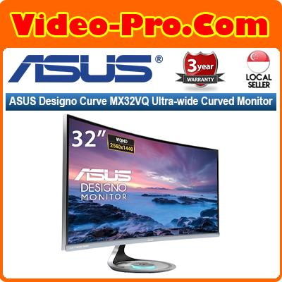 Asus MX32VQ Designo Curved 31.5Inch Monitor WQHD 75Hz DP HDMI Eye Care Monitor with Adaptive-Sync