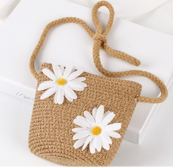 2020 nian Summer New Style Children Straw Bags Shoulder Bag CHILDRENS Girls Child Cartoon Cute Baby Purse