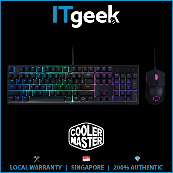 Cooler Master MS110 RGB Combo Bundle with Mechanical Gaming Keyboard and Optical Sensor Gaming Mouse Singapore