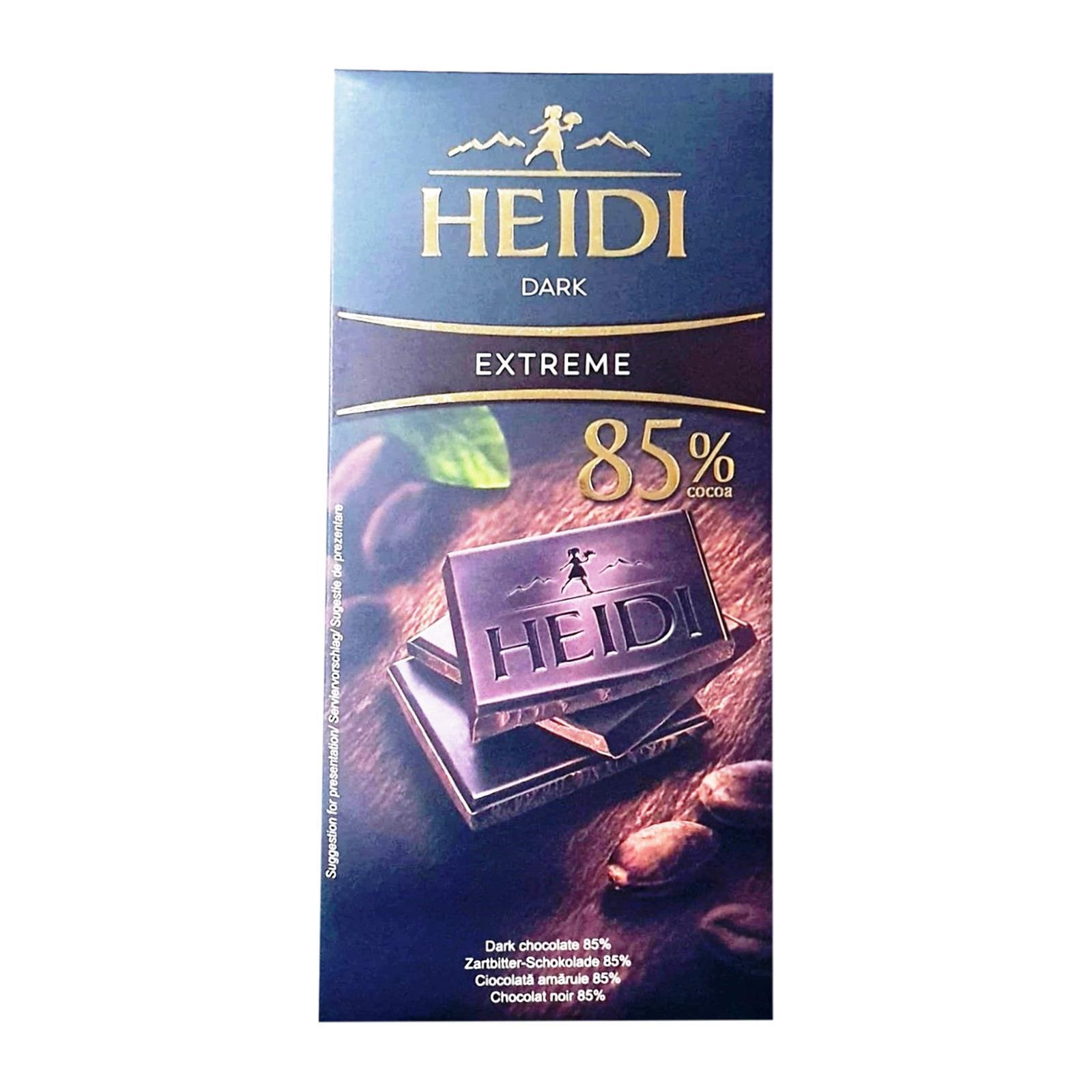 Heidi Dark Extreme Chocolate Bar - 85% Cocoa