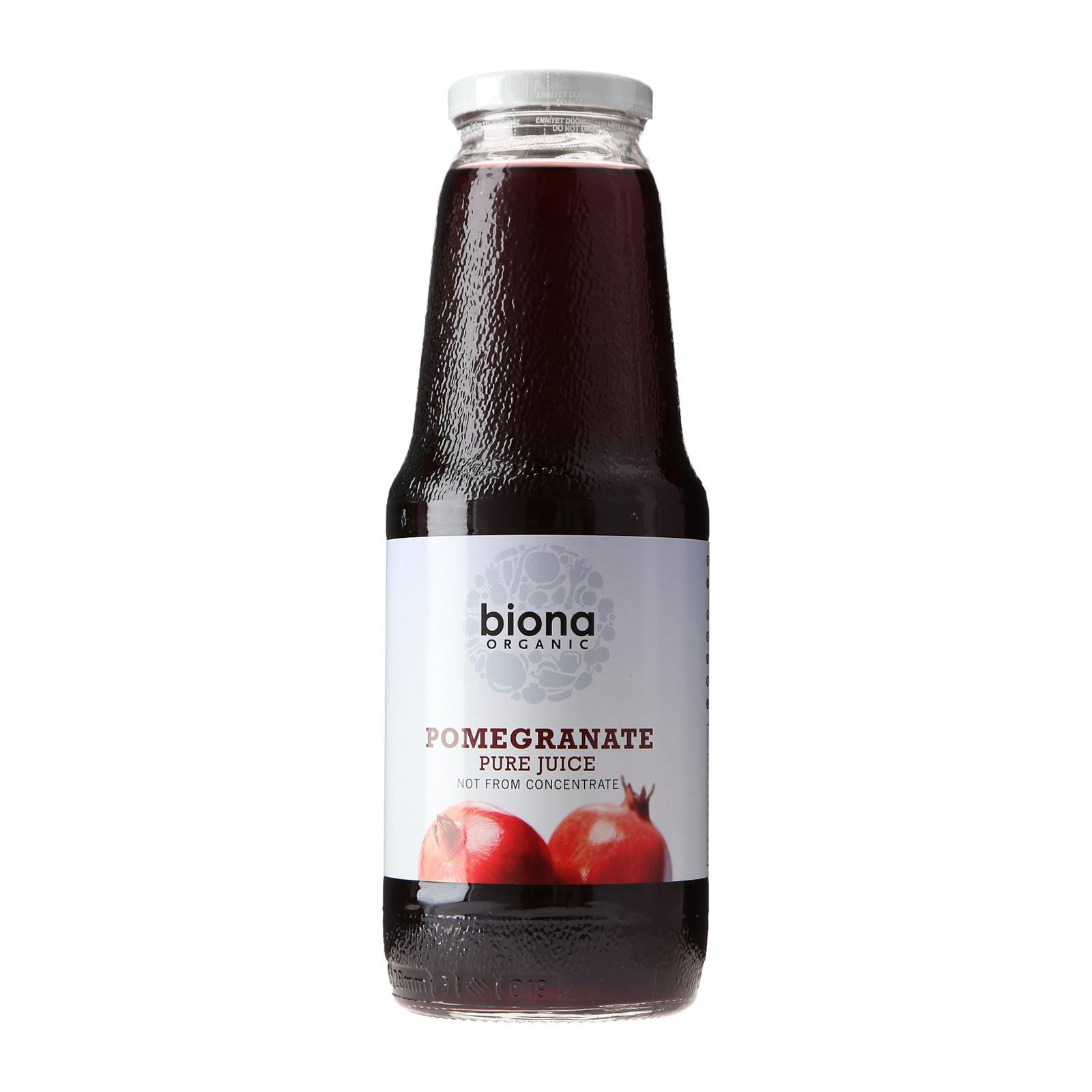 Biona Organic Pure Pomegrante Juice - By Wholesome Harvest