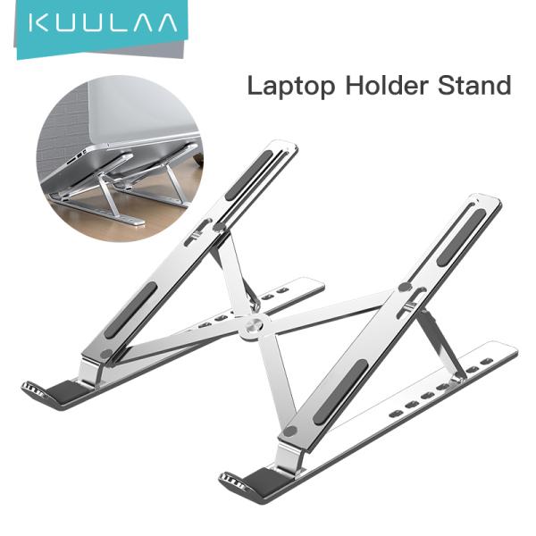 KUULAA Laptop Stand Adjustable Portable Aluminum Alloy Folding Laptop Computer Stand Laptop Pad Notebook Stand for Laptop Computer Macbook Pro Laptop Holder