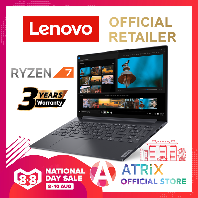【Same Day Delivery】Lenovo IdeaPad Slim 5 | 15.6 FHD IPS 300nits | Ryzen 7 4700U (8cores / 8 threads, 4.1GHz) | 16GB DDR4-3200 | 512GB PCIE SSD | AMD Radeon Graphics | Free extended 3Yr Lenovo On-Site Warranty worth $189