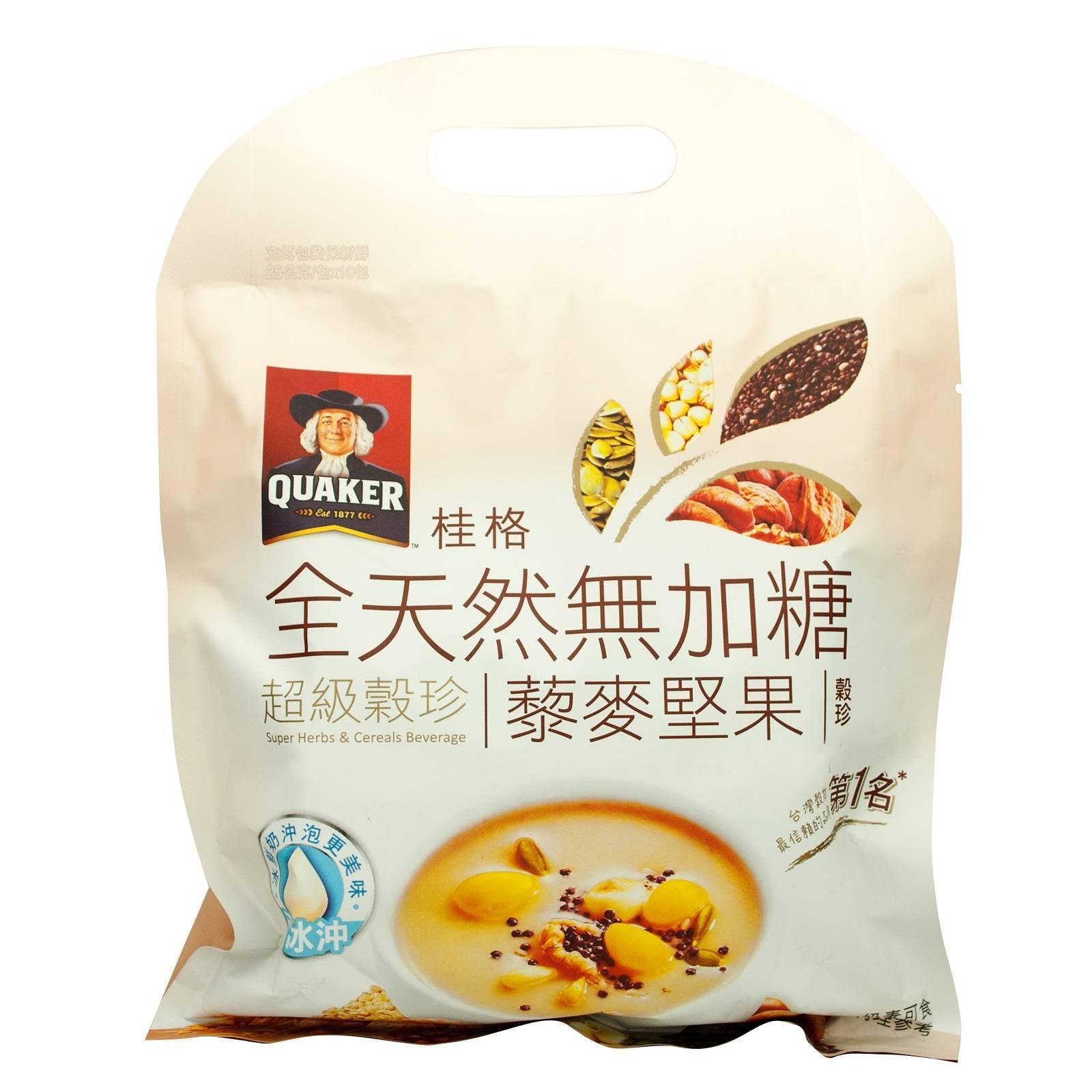 QUAKER Super Herbs and Cereals Beverages No Sugar Quinoas