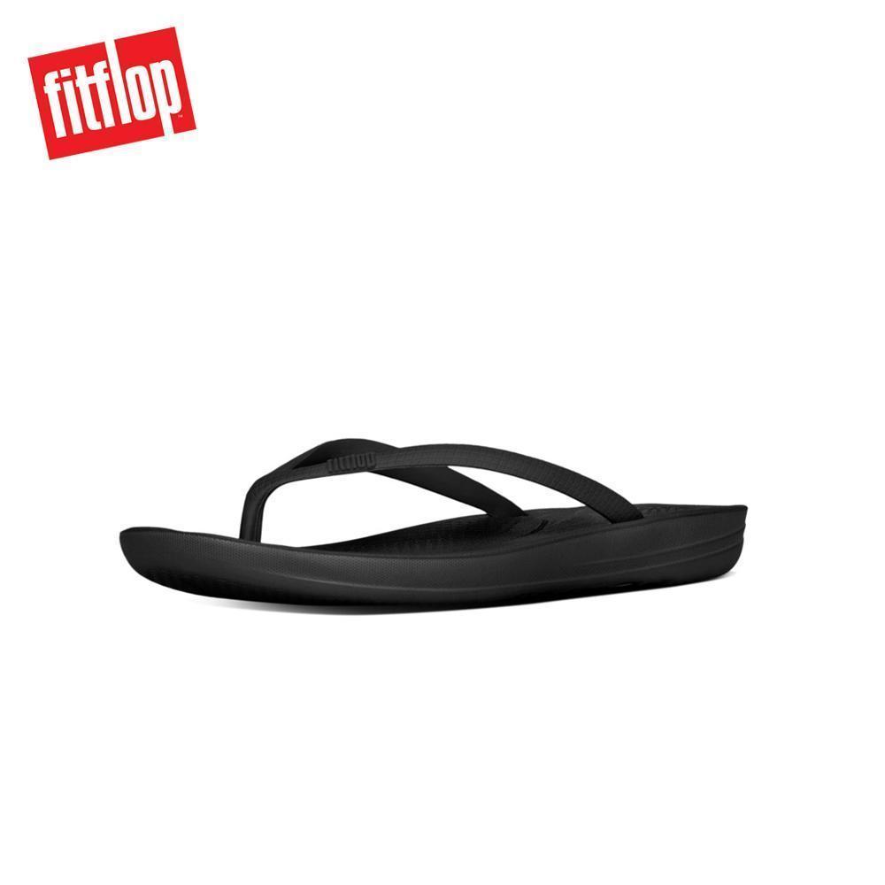66c86351b45d Singapore. Fitflop™ Iqushion Ergonomics All Black Slippers