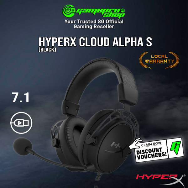 HyperX Cloud Alpha S Gaming Headset (Black) - HX-HSCAS-Bl/WW (2Y)
