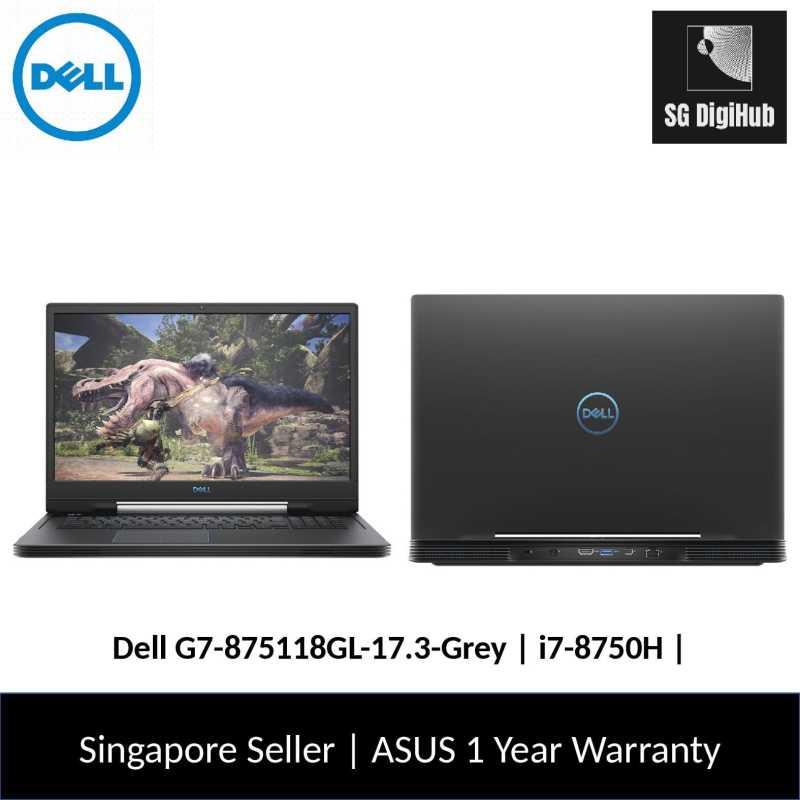 Dell G7-875118GL-17.3-Grey   i7-8750H   16GB RAM   256GB SSD+1TB HDD   NVIDIA RTX2070   1Y Warranty