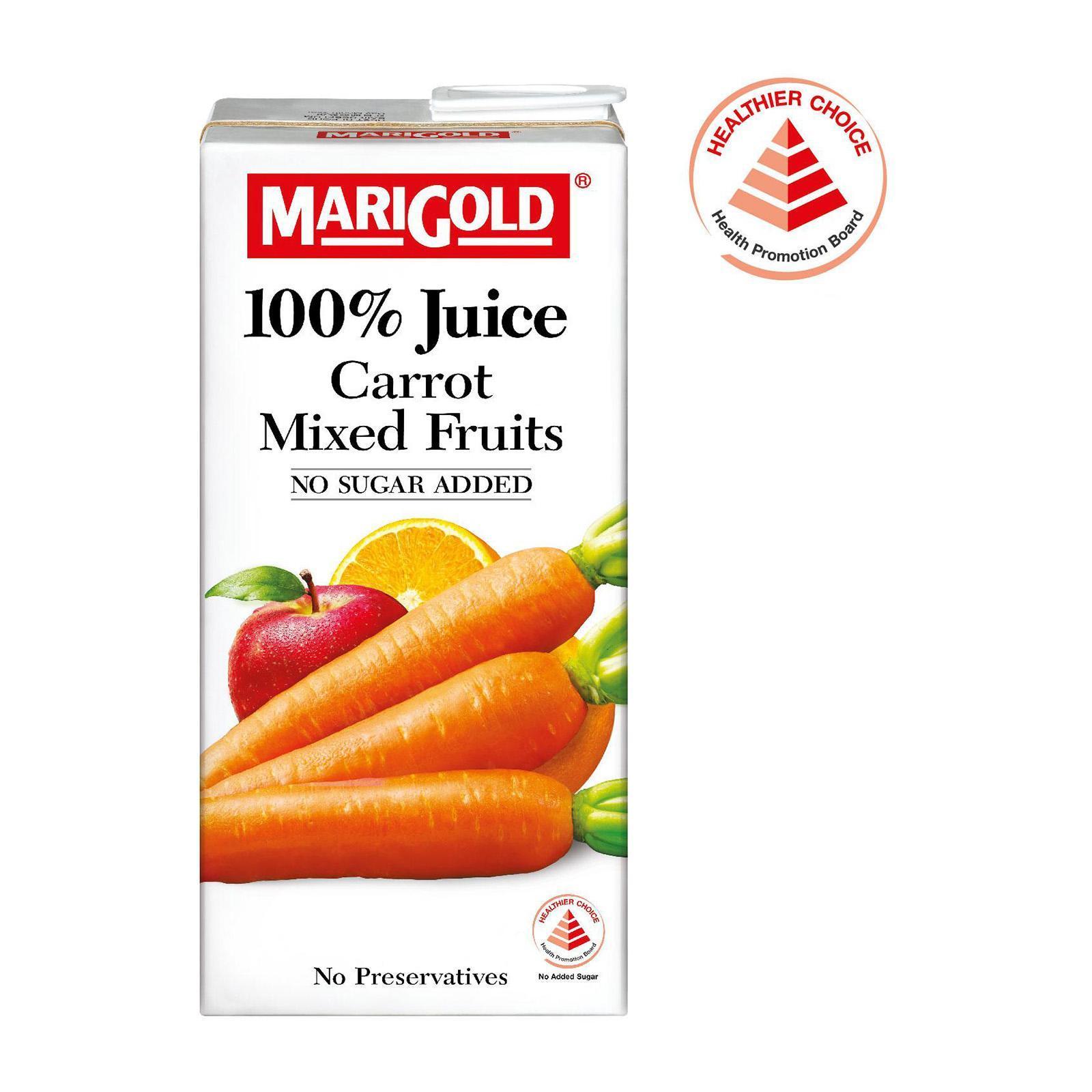 MARIGOLD 100% Carrot Mixed Fruits Juice