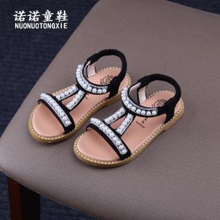 Mùa Hè Bé Gái Dép 2020 Phiên Bản Hàn Quốc Mẫu Mới Cho Trẻ Em Hở Ngón Chân Giày Bệt Ngọc Trai Kim Cương Nhân Tạo Giày Công Chúa Giày La Mã Thủy Triều thumbnail