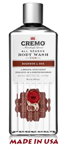 Buy Cremo All Season Body Wash, Bourbon & Oak, 16 Fl. Oz, Masculine Scent With A Tantalizing Essence Of Lively Distillers Spices, Smoked Bourbon & Oak Singapore