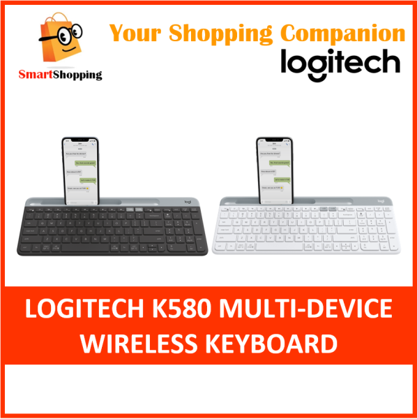 Logitech K580 Multi-Device Wireless Bluetooth USB Unifying Receiver Keyboard Compatible With Windows Mac Android IOS 1 Year SG Warranty Singapore