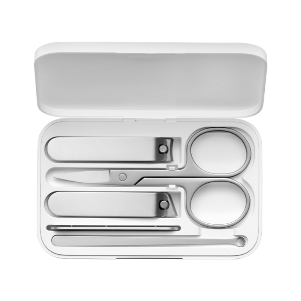 Buy XIAOMI MIJIA Nail Clippers Set 5Pcs Stainless Manicure Pedicure Nail Clipper Cutter Nail File Ear Pick with Storage Box Singapore