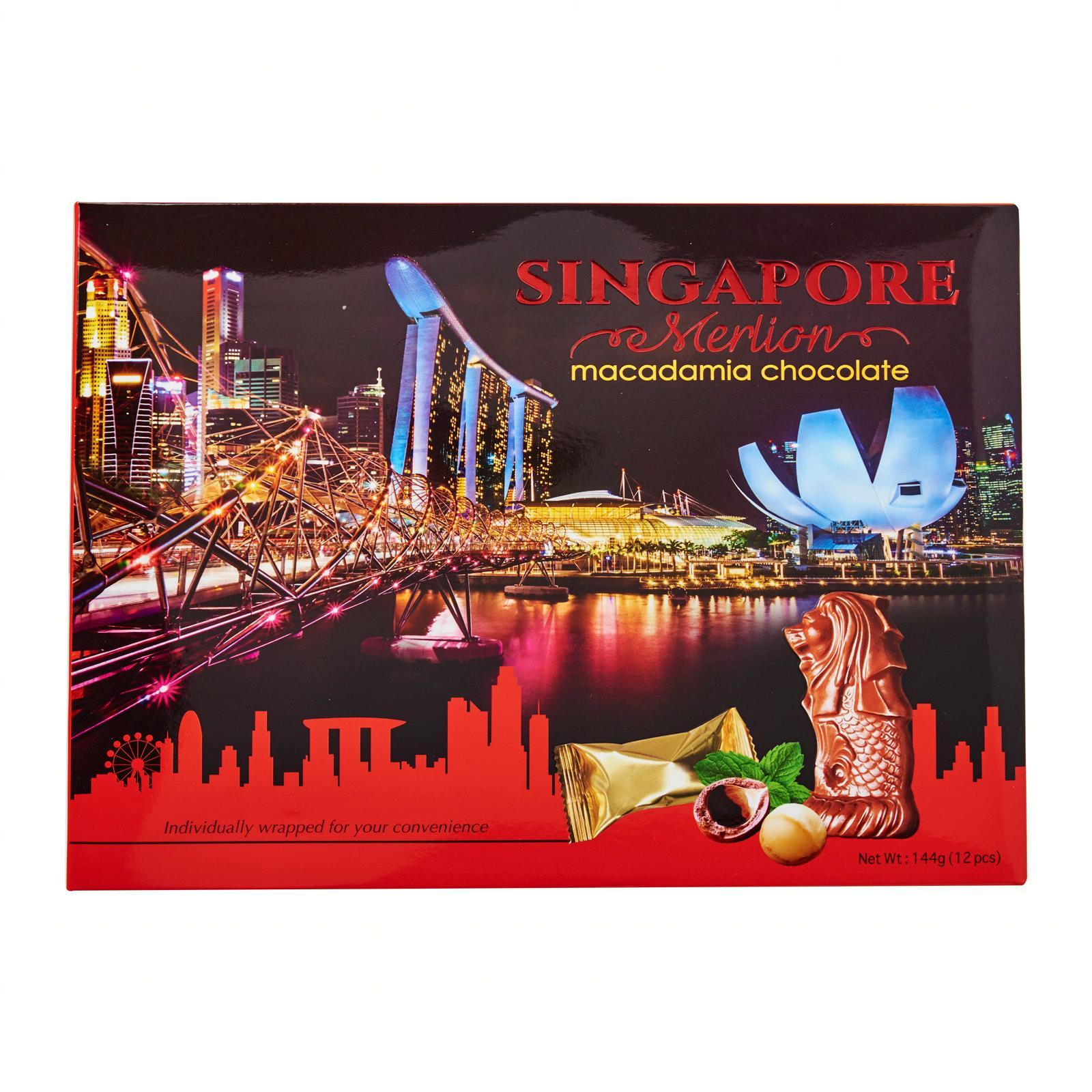 Manly Singapore Merlion Macadamia Chocolate (Individually Wrapped)