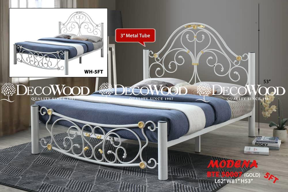 QUEEN SIZE THICK BASE BEDFRAME / QUEEN SIZE METAL BED / QUEEN BED / COUPLE BED / LARGE BED / KATIL BESI KUAT L62CM X W81CM X H53CM