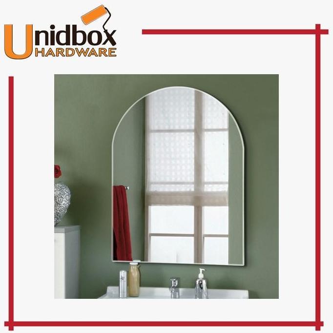 VITA 82M Mirror U shaped - 48cm X 35cm (With Installation)/Wall Hanging/Wall Mounted/Bathroom/Toilet/Glass/Washroom/Simple/Makeup