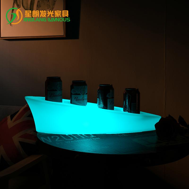 LED Tray Creative Rotational Wine Rack Remote Control Sevev Colours Charging Waterproof Hotel Bar Glowing Tray