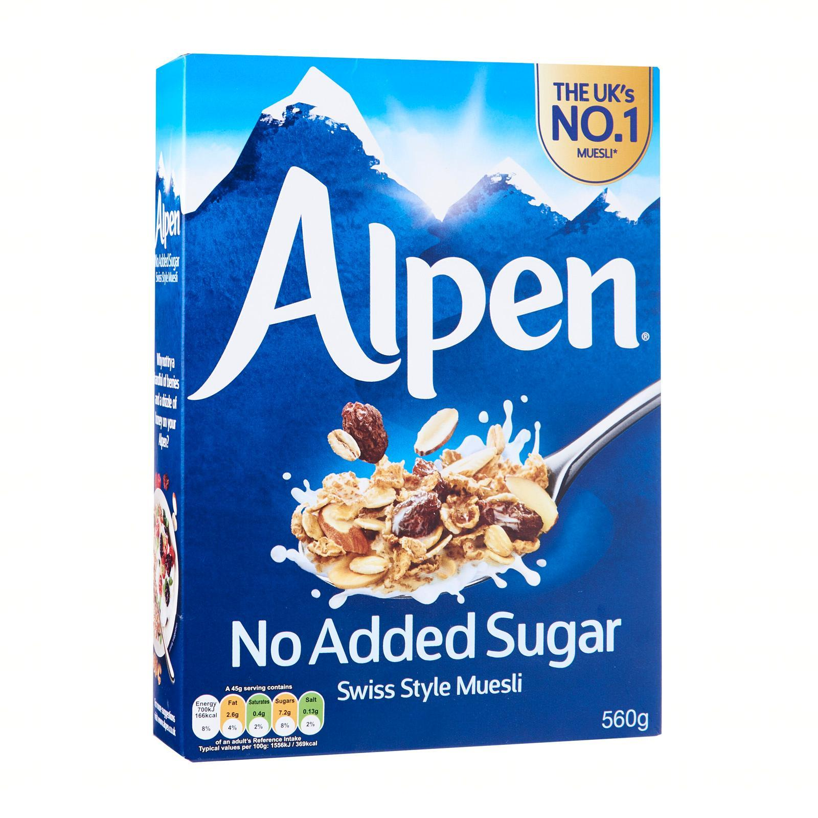 Alpen No Added Sugar Swiss Style Muesli