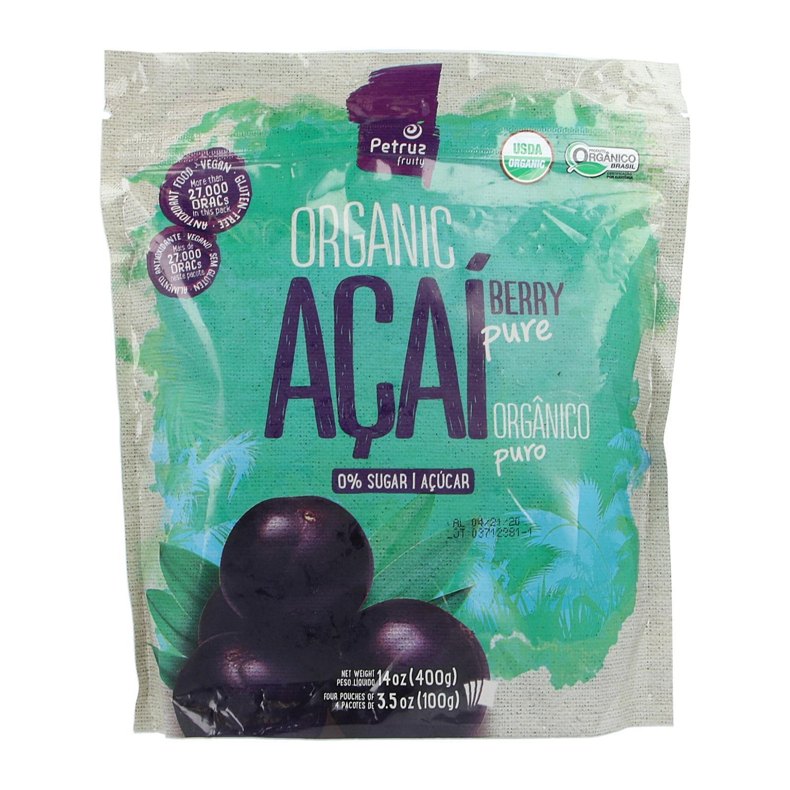 Petruz Acai Organic Acai Berry Pulp Pure - Frozen By Redmart.