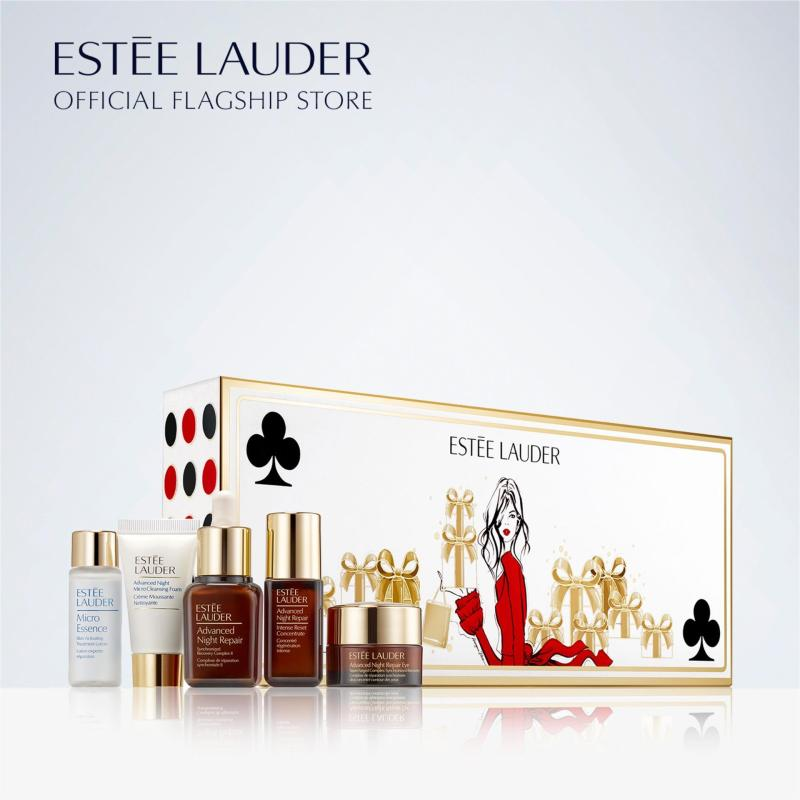 Buy [Holiday Special] Estee Lauder - 4-pc Advanced Night Repair Essentials + 1-pc Micro Essence Treatment Lotion - Repair + Renew Travel Skincare Set For Radiant, Youthful-Looking Skin (Worth $109) Singapore
