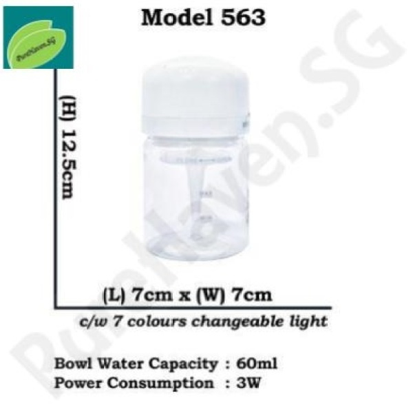 [BNIB] GOOD FOR CAR! Model 563 Mini Water Air Purifier! With Interchangeable LED Lights. CAN FIT CUPHOLDER! 60ml Singapore