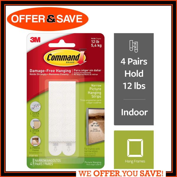 3M Command Picture Narrow Hanging Strips 17207