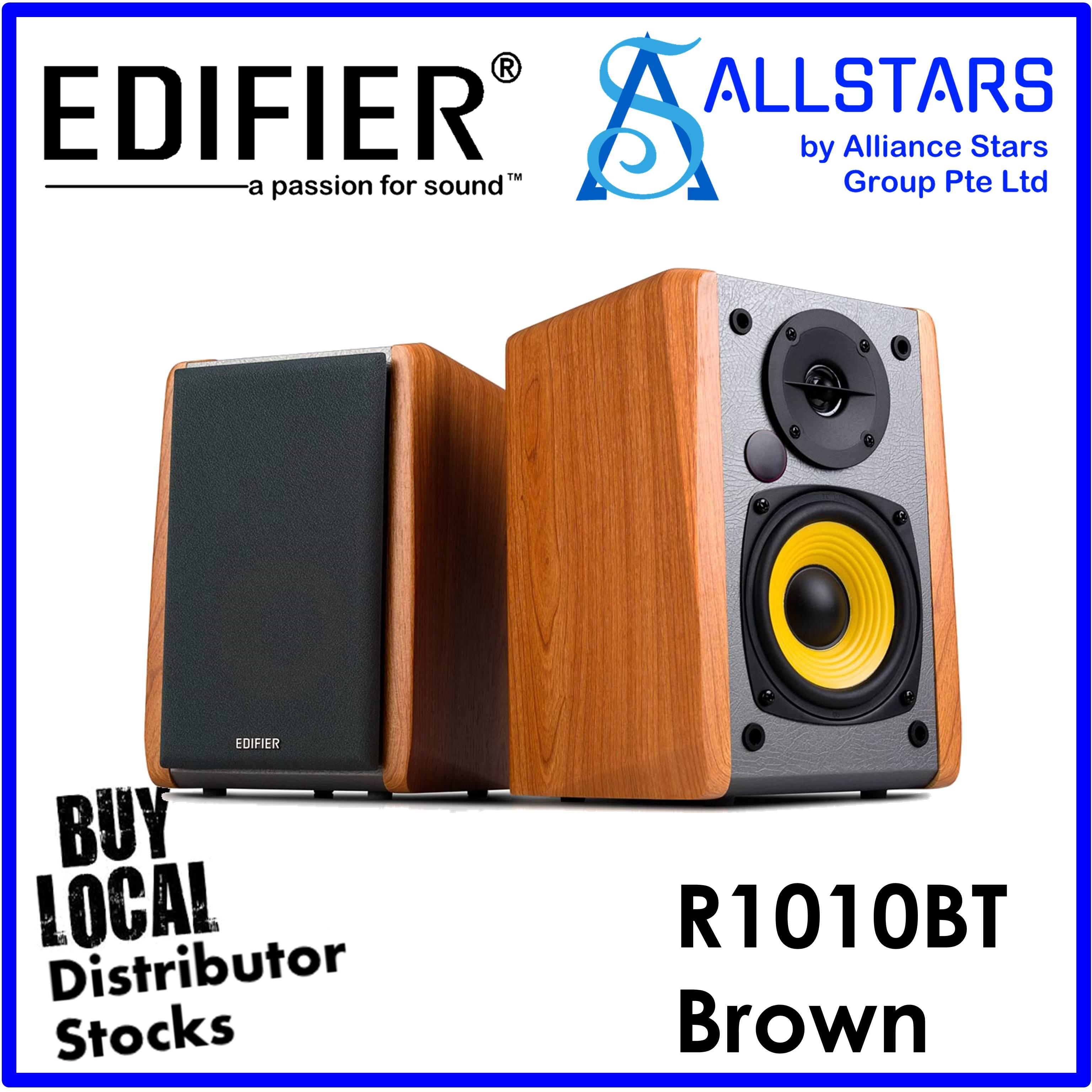(ALLSTARS : WE ARE BACK / 9.9 PROMO) EDIFIER BROWN R1010 BT / R1010BT 2.0 Speaker / Bluetooth (Local Warranty 2years with BanLeong)
