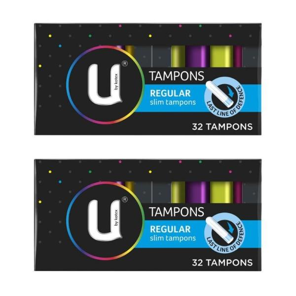 Buy U by Kotex® Regular Slim Tampons 32 Pack (2pcs) Singapore