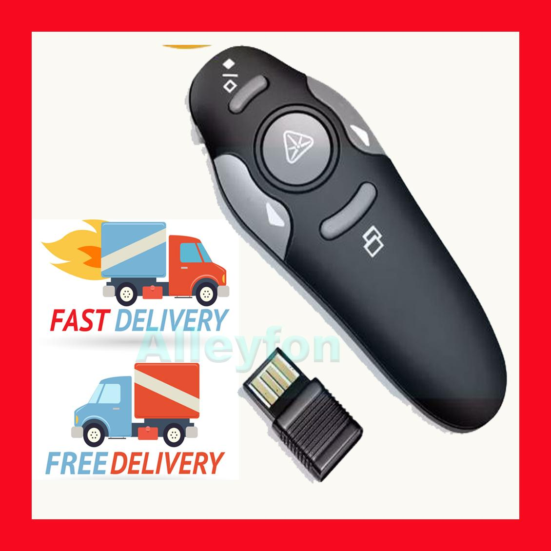 FAST & FREE Shipping ! Wireless USB Powerpoint Presenter Laser Pointer Power point Presentation clicker