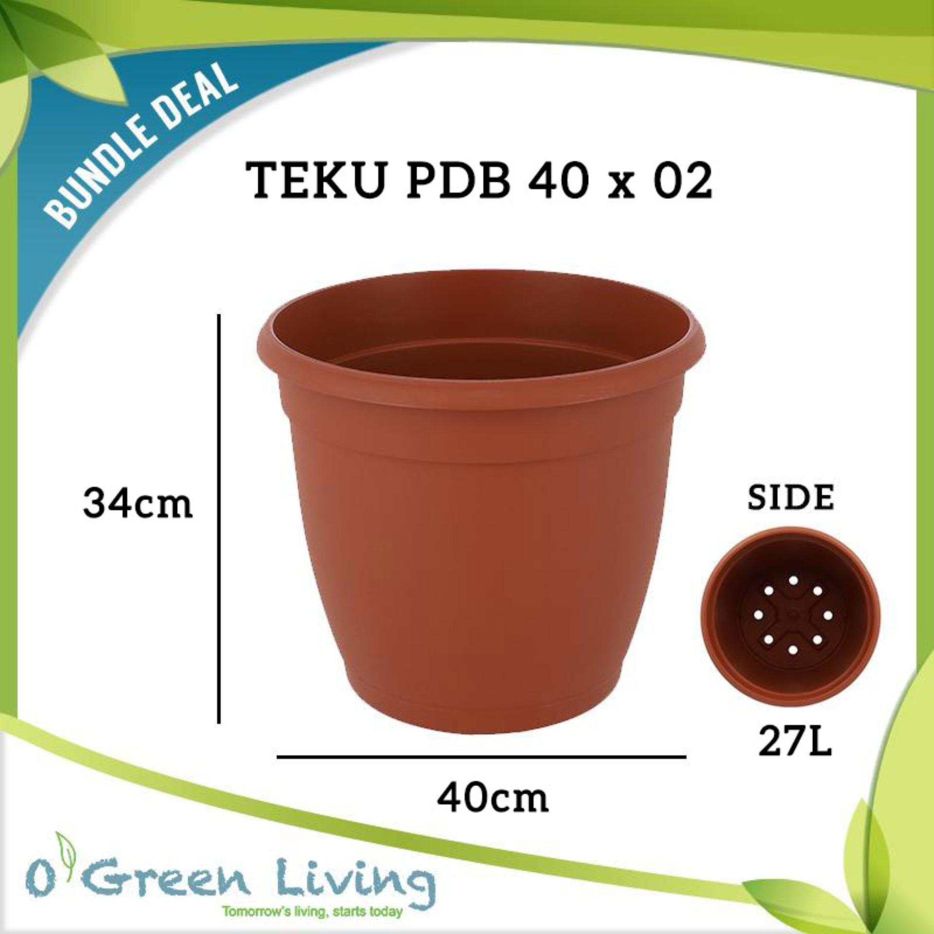 [Bundle of 02] TEKU PDB 40 POTS (40cm W x 34cm H)