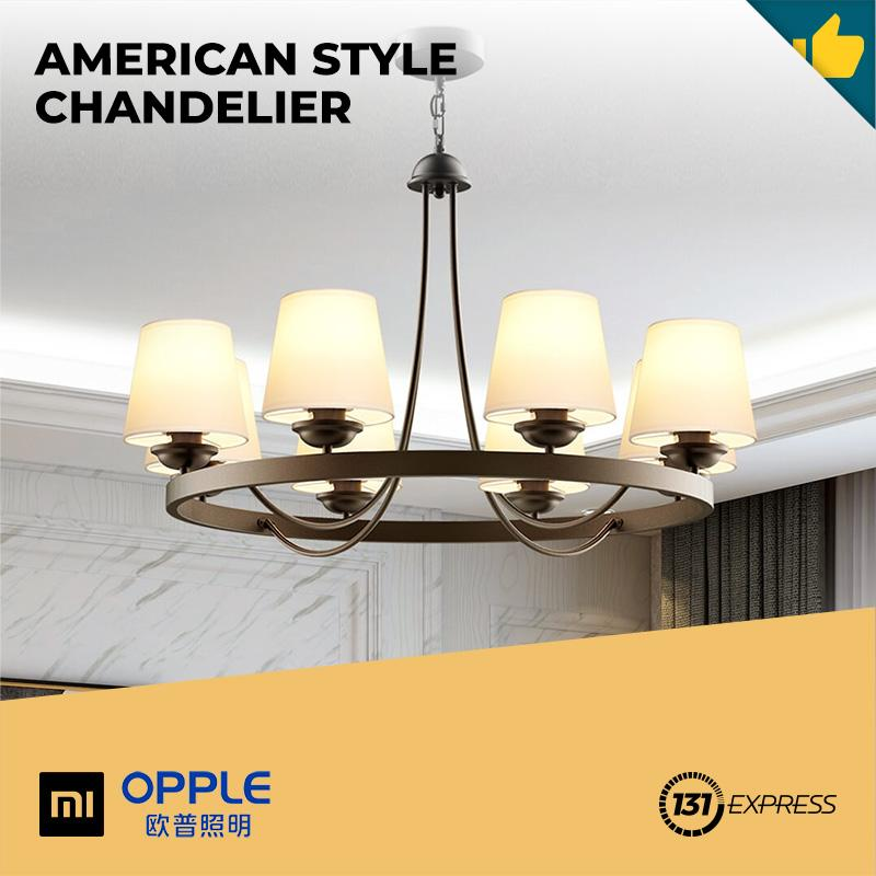 Xiaomi OPPLE  Chandelier American Style Classic Vintage Frosted Wrought Iron Design For Home Living Room Decorative Lighting