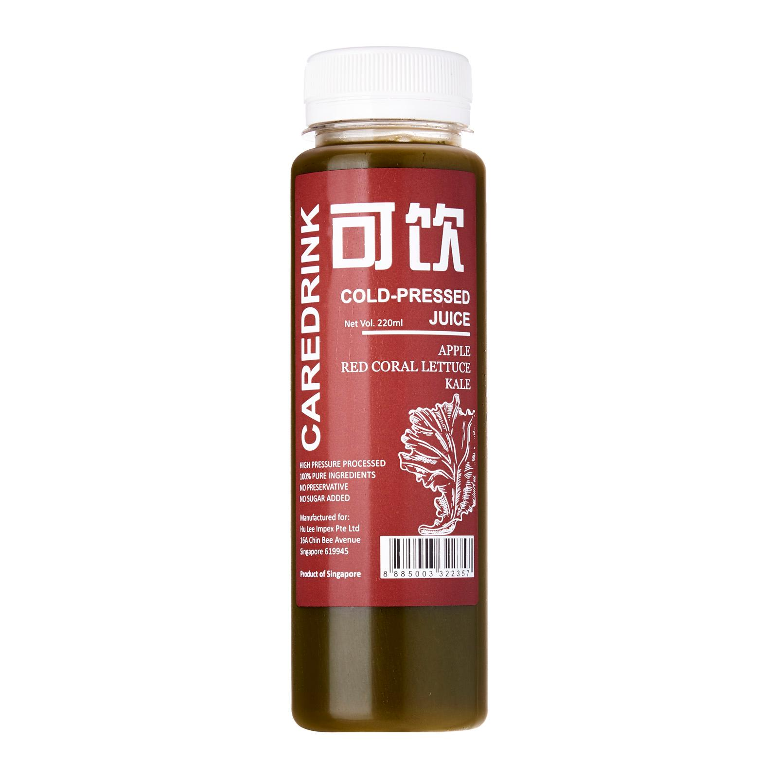 Caredrink Cold-pressed Juice - Apple Red Coral Lettuce Kale