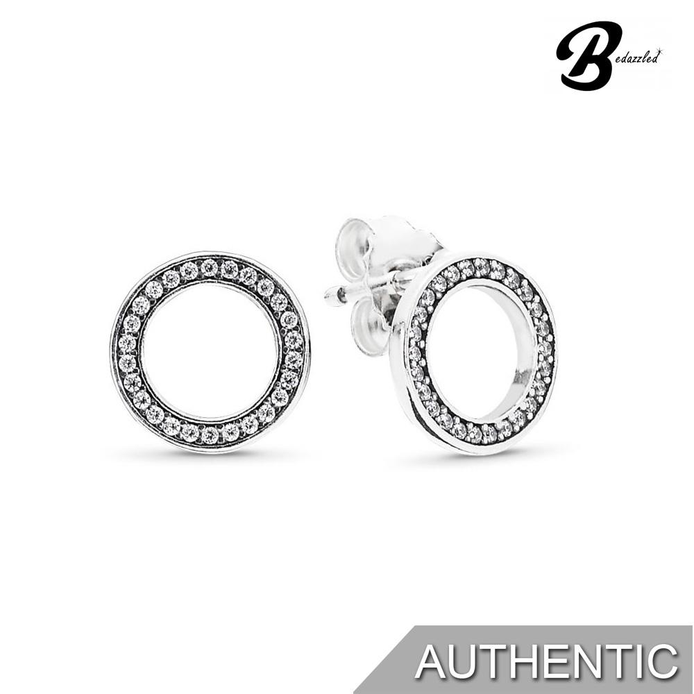 6f5fd3d0d PANDORA SILVER STUD EARRINGS WITH CLEAR CUBIC ZIRCONIA