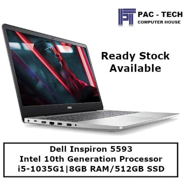[Ready Stock] Dell Inspiron 5593 | i5-1035G1 | 8GB RAM | 512GB SSD | 15.6 Full HD | 1 Year Warranty