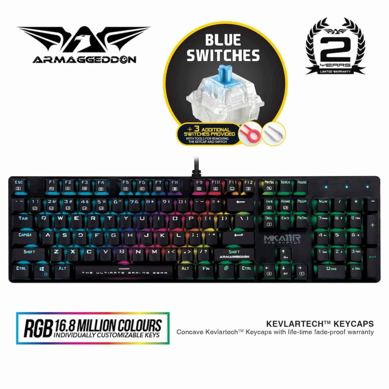Armaggeddon MKA-11R RGB Mechanical Gaming Keyboard Singapore