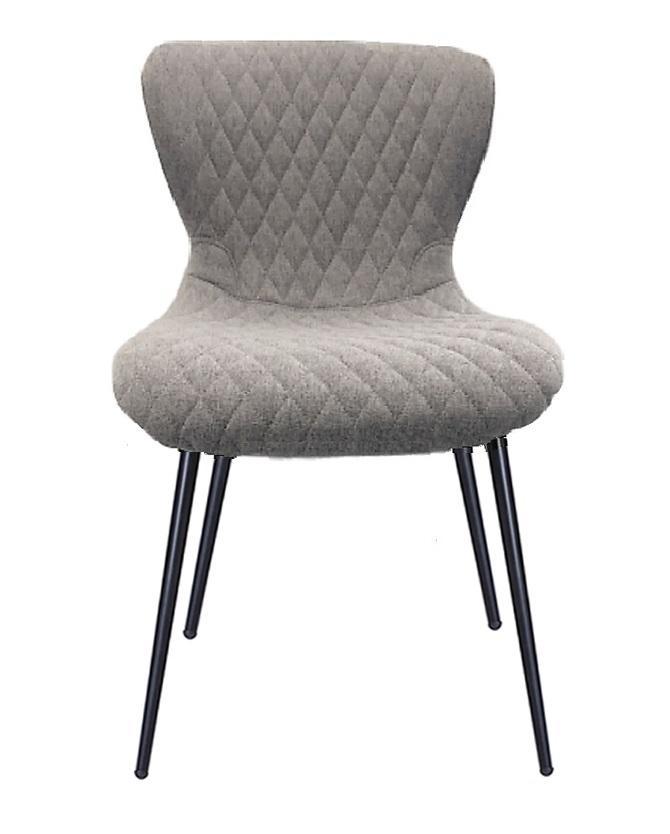 Sheldon Fabric Dining Chair - Light Grey