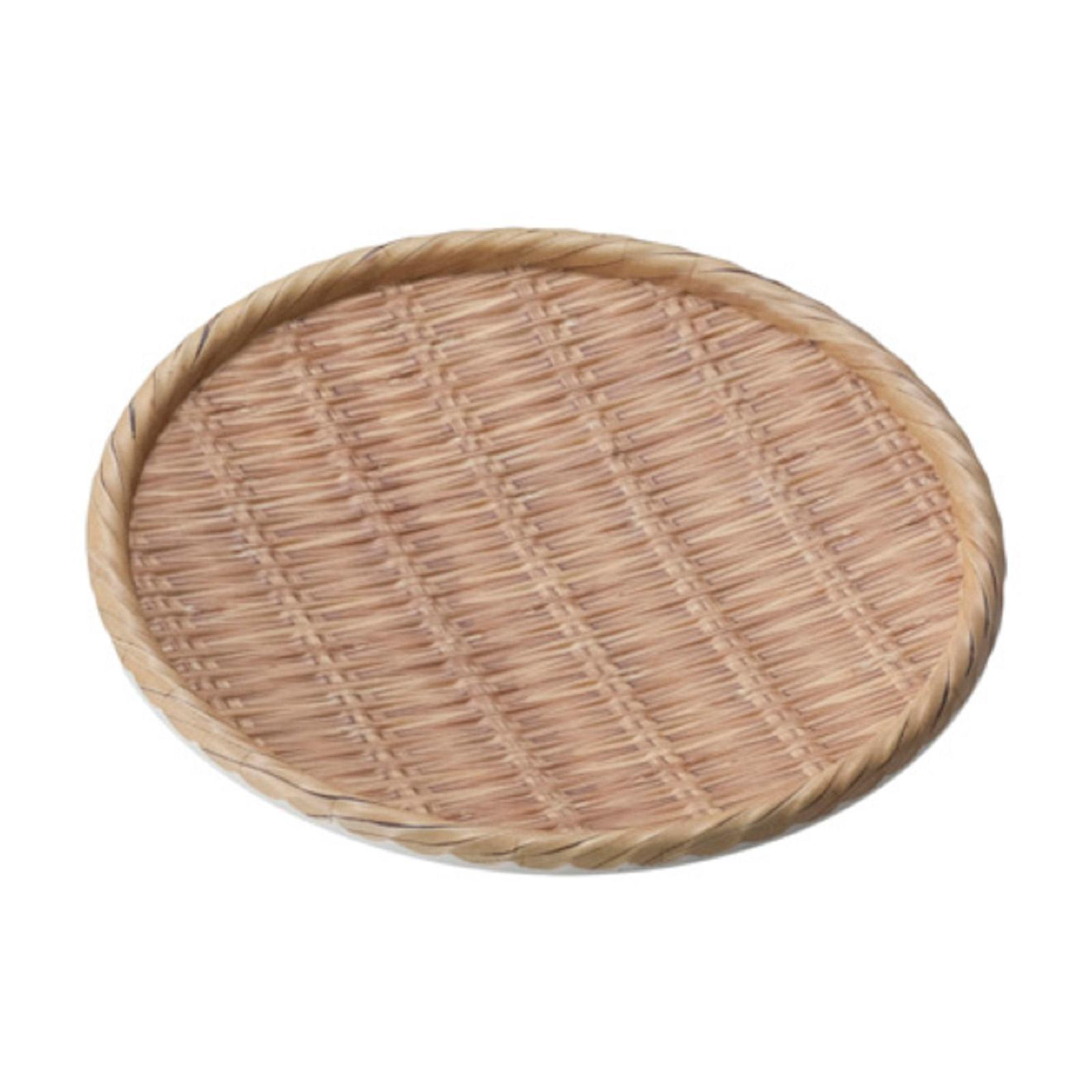 Shun Ta Melamine Round Plate 24 x H3 CM Natural Bamboo - By ToTT