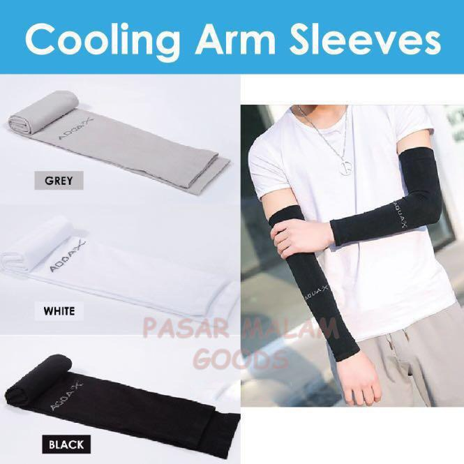 ★$9.8 For 3pairs★ Cooling Arm Sleeves Unisex Free Size Sunblock Uv Protection Outdoor Sports Dry Fit Cycling.