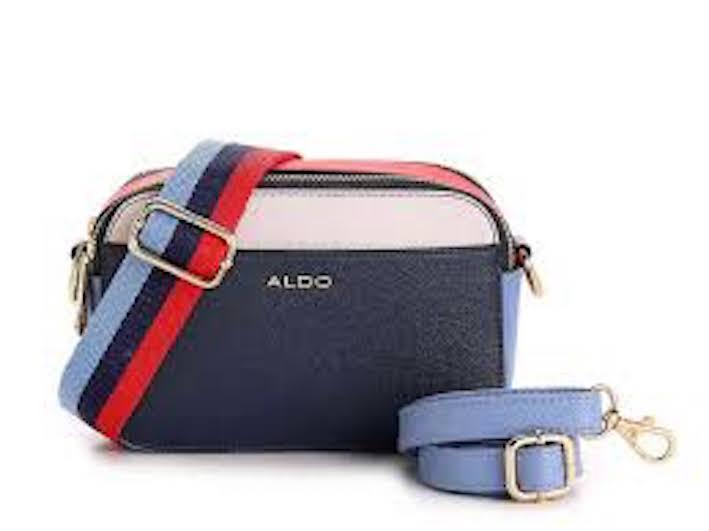 ALDO Ridout faux saffiano leather two tone camera crossbody bag
