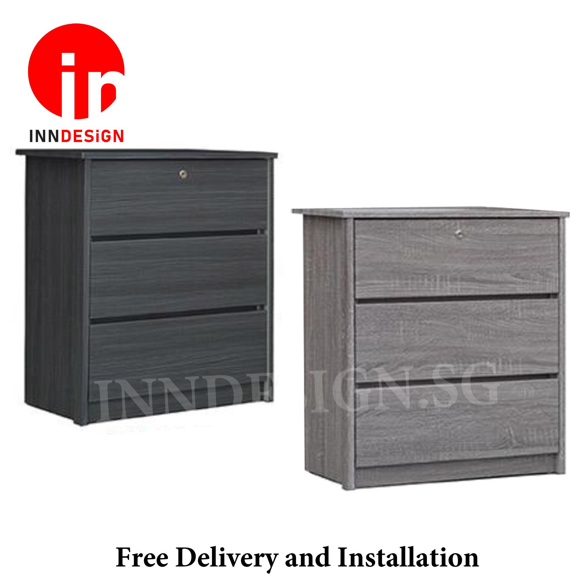 Katherine III New Series Chest of Drawers With Lock (Free Delivery and Installation)