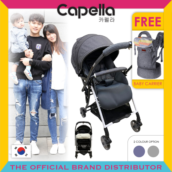 Capella® S206-19-DG / S206-19-NV Wi-Lite Plus Stroller Dark Grey / Navy(Black) Singapore